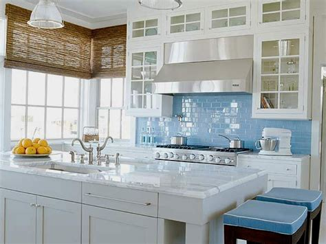 white kitchen cabinets with blue glass backsplash the classic of subway tile backsplash in the kitchen 2203