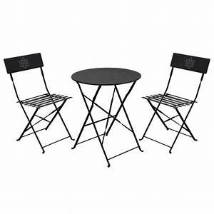 Gartenmöbel Set Metall Günstig : gartenm bel set tisch und zwei st hle aus metall bi ~ Whattoseeinmadrid.com Haus und Dekorationen