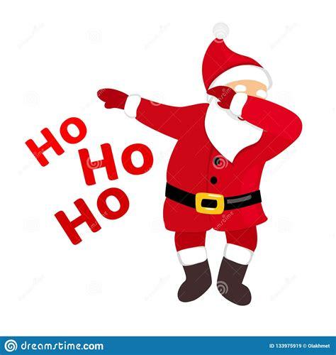 Funny Santa Dabbing Quirky Cartoon Comic Character