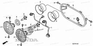 Honda Scooter 2008 Oem Parts Diagram For Headlight