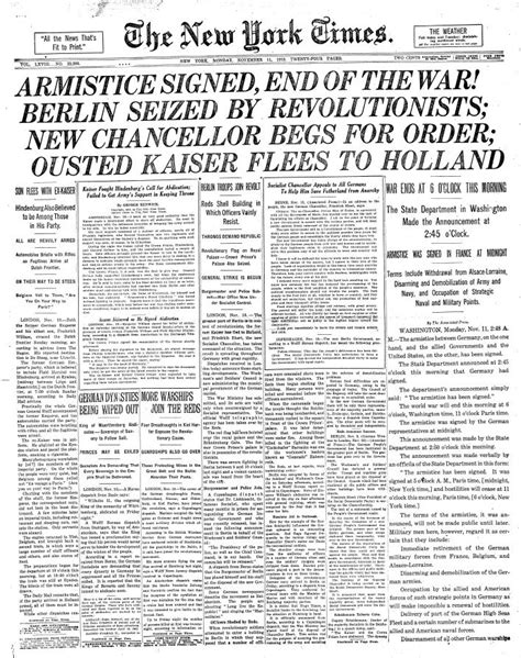 news article armistice day