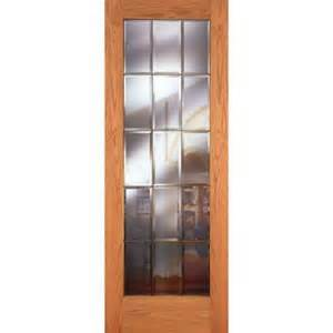 oak interior doors home depot feather river doors 36 in x 80 in 15 lite clear bevel brass woodgrain unfinished oak interior