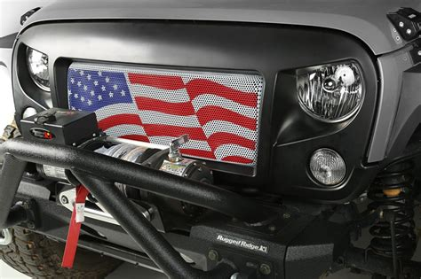 american flag jeep grill grille insert american flag 07 17 jeep wrangler jk by