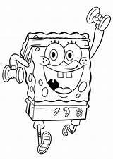 Spongebob Coloring Pages Squarepants Printable Sponge Bob Working Exercising sketch template