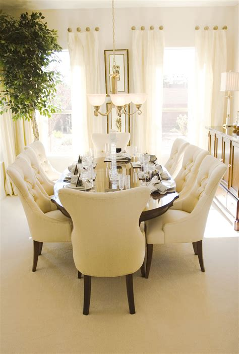 cream colored wood dining chairs dining room ideas