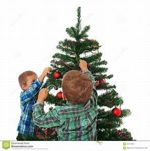Kids Decorating Christmas Tree Stock Photo - Image: 22113320