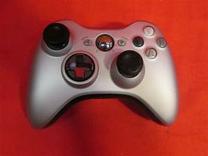 Microsoft Brand Silver Controller For Xbox 360
