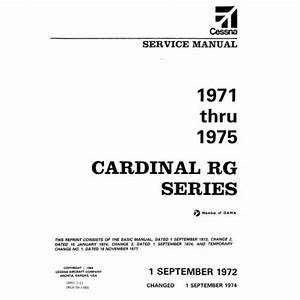 Cessna Cardinal Rg Series Shop Service Repair Manual 1971