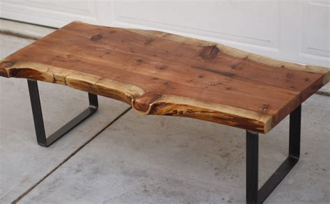 Light wood dining table and chairs; Wood Slab Furniture   at the galleria