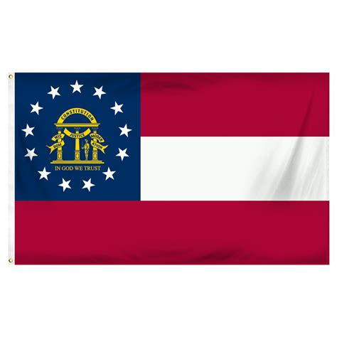 Georgia 3ft. x 5ft. Spun Heavy Duty Polyester Flag