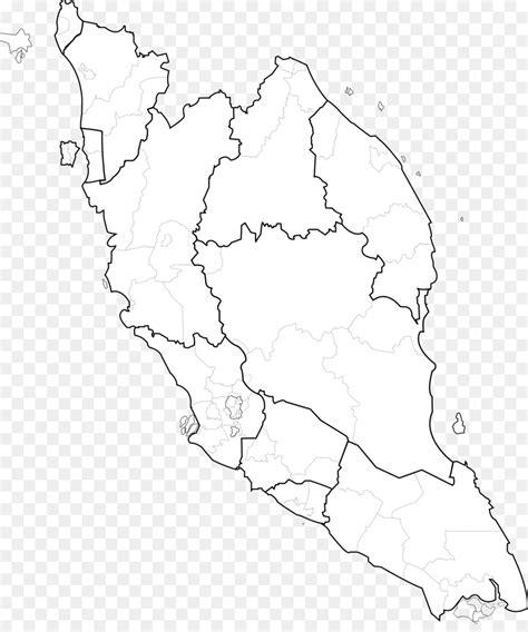 peninsular malaysia federal territories blank map vector