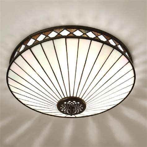 deco flush fitting ceiling light for low ceilings