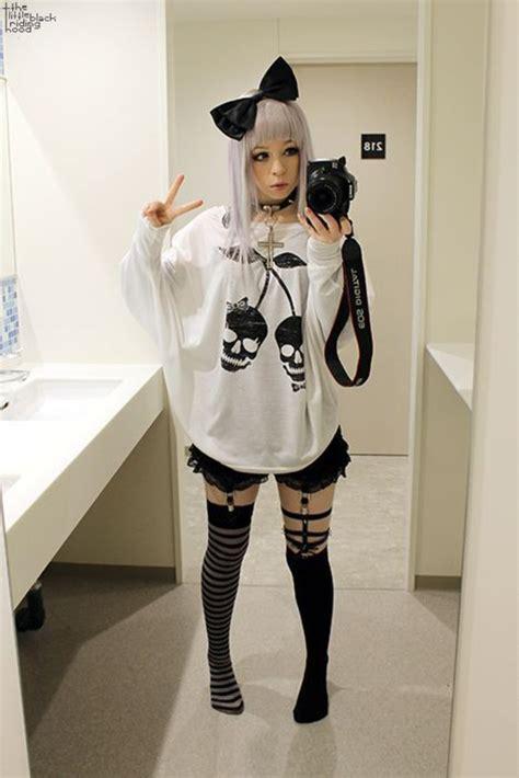 Jeans: shirt, cherry skull, pastel goth, kawaii, kawaii