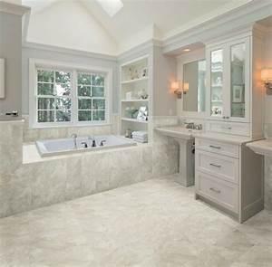 Salle De Bain Marbre Blanc : salle de bain taupe pour plus de style recherch ~ Nature-et-papiers.com Idées de Décoration