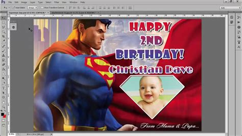Free Tarpaulin Layout Template ( Superman Background