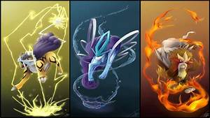 Pokemon HD Legendary Dog Trio, Ion Trio and Birds Duo ...
