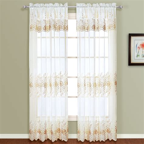 Kmart White Sheer Curtains by United Curtain Company Marianna 50 Quot X 63 Quot Set Of Two