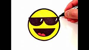 How to Draw a Cool Smiley Face with Sunglasses - YouTube