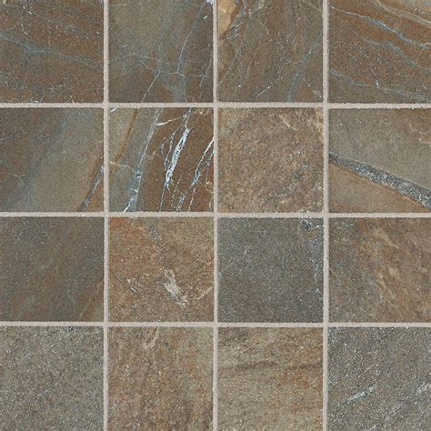tile flooring rustic daltile ayers rock rustic remnant 13 in x 13 in glazed porcelain mosaic floor and wall tile
