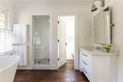Bathroom Layout With Separate Toilet by Separate Toilet Room Bathroom Farmhouse With Wide Plank