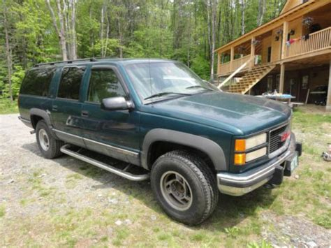 how do i learn about cars 1996 gmc suburban 2500 electronic throttle control buy used 1996 gmc diesel suburban 2500 6 5l turbo in townshend vermont united states