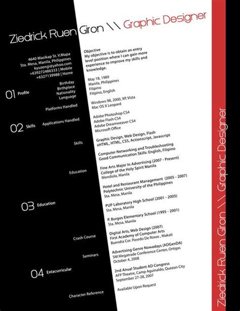 40 most creative resume design seen speckyboy