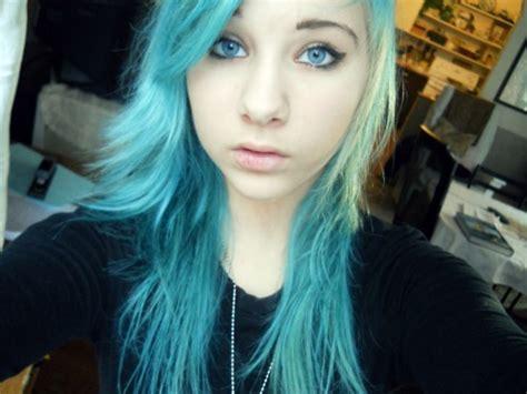 Blue Hair Girl Pretty Girl Alternative Image 430375