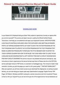 Roland Va 3 Keyboard Service Manual Repair Gu By