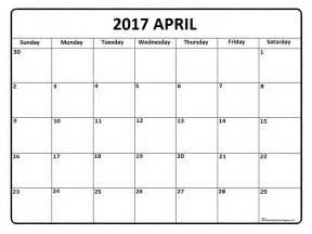 April 2017 Calendar Printable
