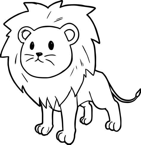cute cartoon comic lion coloring page wecoloringpagecom