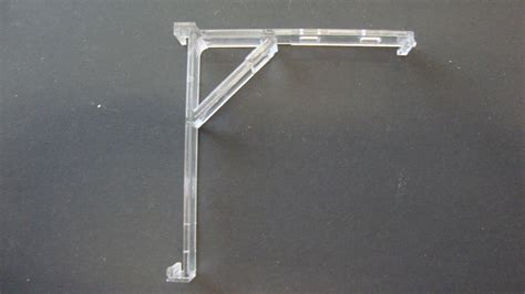3 qty clear vertical blind bracket w built in valance clip