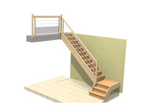 escalier avec palier intermediaire conception escaliers duporge
