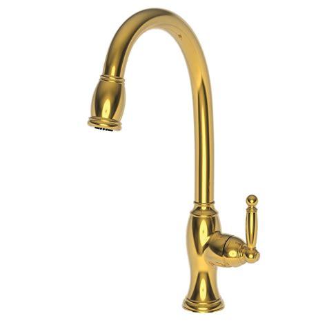 brass kitchen faucet newport brass 2510 5103 pull kitchen faucet newport