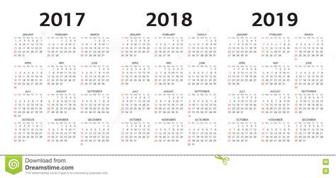 vector las plantillas del calendario ilustracion del