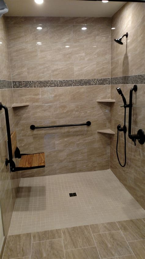 accessible showers aging  place remodeling