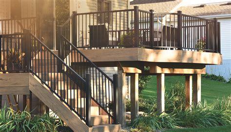 Options For Deck Railings by Deck Railing Composite Amp Aluminum Deck Railing Timbertech