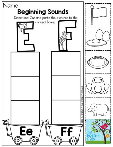 Beginning Sound Sort Practice Letter Recognition, Cutting Skills, And Pasting  Mizz Jenny