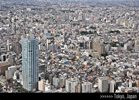 Tokyo, Japan - seen from the North Observatory 45th floor ...
