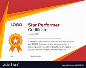 best effort certificate template gallery certificate With star performer certificate templates