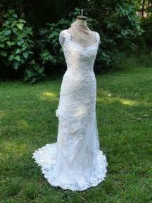 Pattern Irish Crochet Lace Wedding Dress