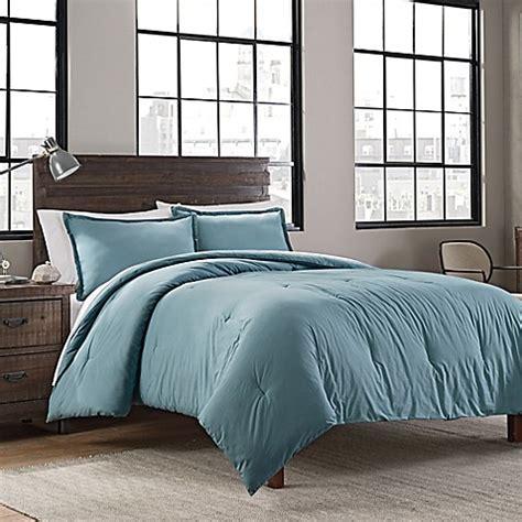 garment washed solid comforter set bed bath beyond