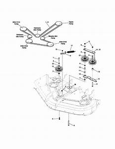 44 U0026quot   50 U0026quot  Deck Idler Diagram  U0026 Parts List For Model