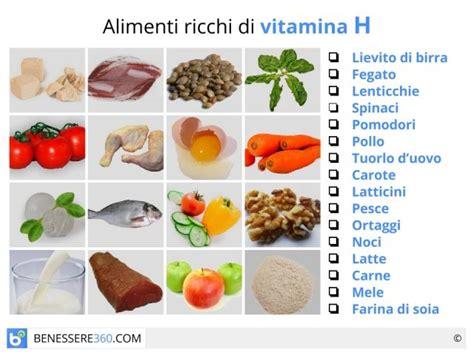 alimenti con vitamine e la biotina o vitamina h 232 una vitamina idrosolubile