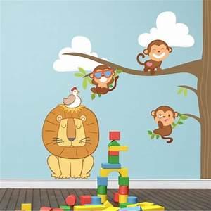 Stickers Arbre Chambre Bébé : stickers chambre b b arbre et petits singes pour votre ~ Melissatoandfro.com Idées de Décoration