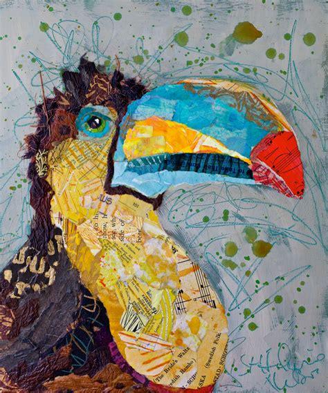 paper paintings   birds