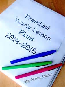 At Home Preschool Lesson Plans