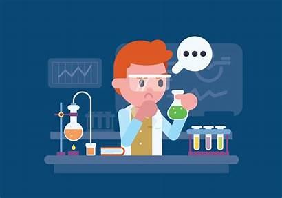 Laboratory Scientist Working Illustration Vector Lab Clipart