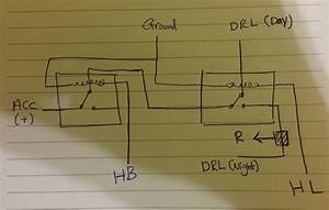 Light - Two Relays For Drl On A Car