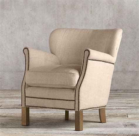 restoration hardware professor chair professor s upholstered chair with nailheads pair of