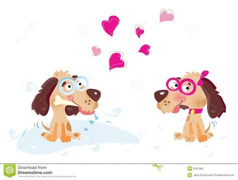 love  dog cartoon bone vector illustration cartoondealercom